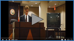 Screen shot of Domestic Injunctions Hearing video